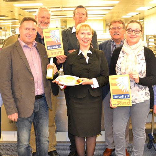 Juradistl-Aktionswochen in den Mensen der Regensburger Hochschulen