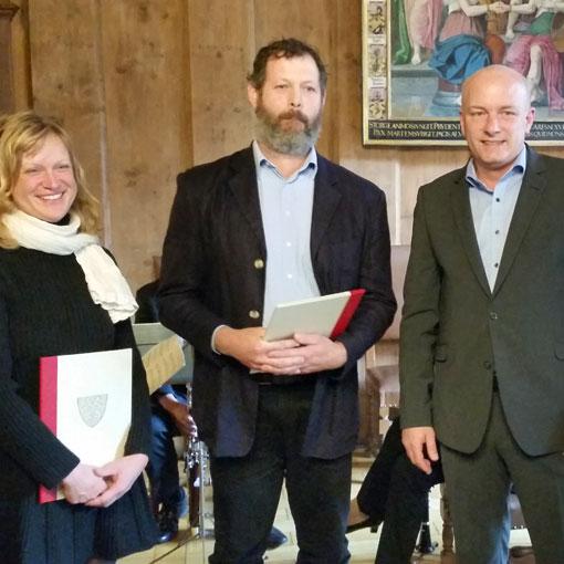Umweltpreis der Stadt Regensburg – Anerkennungsurkunde für das Juradistl Projekt Beweidung Winzerer Höhen